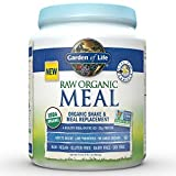 Garden of Life Organic Vegan Meal Replacement - Raw Plant Based Protein Powder, Vanilla, 17.1 oz (484g) Powder