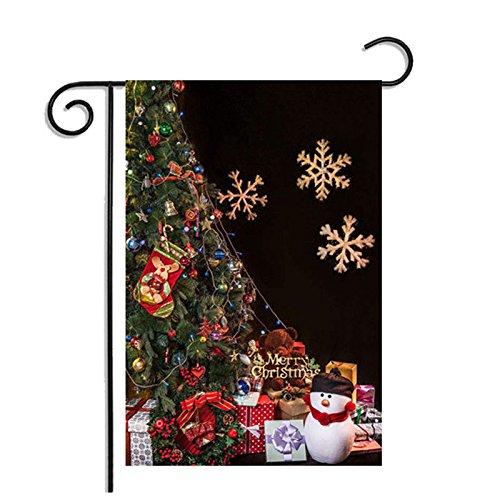 Kicode topmountain de Navidad Halloween Día de Acción de Gracias Bandera de Jardín para Fiesta Festival Home Colgante...
