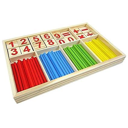 LAAT Jouet Educatif Math/ématique Intelligence B/âton Compter pour B/éb/é Enfant