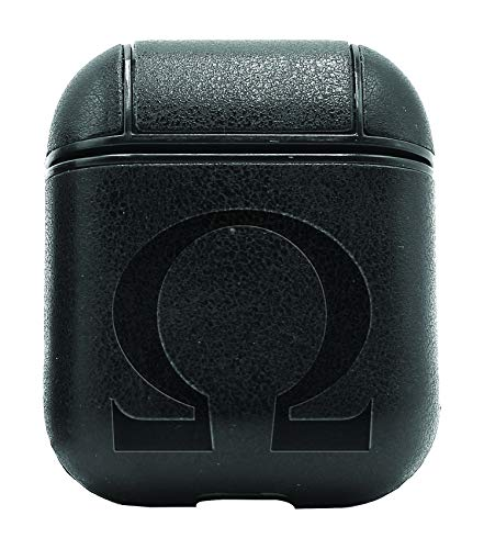 Omega Air - Omega Silhouette (Vintage Black) Air Pods Protective Leather Case Cover - a New Class of Luxury to Your AirPods - Premium PU Leather and Handmade exquisitely by Master Craftsmen