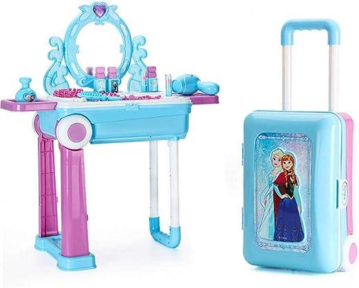 bowlder – Tocador para niños y niñas, Set de Maquillaje portátil Frozen Deformation Makeup Table para niña: Amazon.es: Hogar