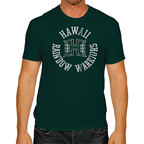 NCAA Hawaii Rainbow Warriors Men's Victory Vintage Tee, Large, Forest (Hawaii Green Green Warriors)
