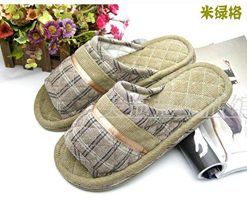 Coppie fankou home scarpe moquette del pavimento cotone pantofole ,37-38, giallo chiaro