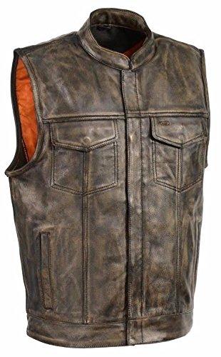 Distressed Leather Vest - 5