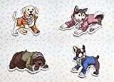 Hamilton Musical, Broadway Dogs, Cute Magnets (Set of 4)