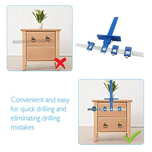 Price comparison product image AMZVASO - Guide Sleeve Cabinet Hardware Jig Drawer Pull Jigs Wood Drilling Dowelling Hole Saw for Installation of Handles Knobs on Doors