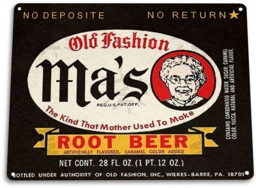 (TIN Sign Mas Root Beer Soda Cola Kitchen Cottage Retro Soda Drink)