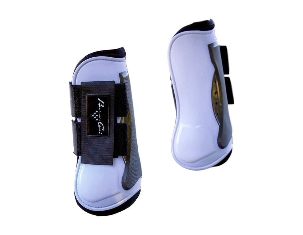 PROFESSIONAL CHOICE Tendon Open Front Air Shock Boot White