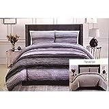 Christian Siriano New York Queen 3-Piece Reversible Bedding Set, Purple/White