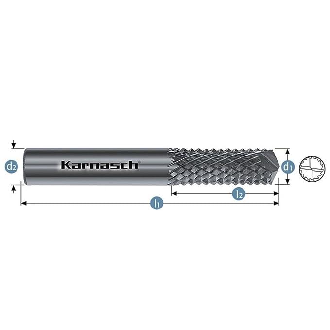 Frässtift mit Bohrspitze 135° für Kunststoffe GFK CFK MMC Carbon Ø=1,6-12mm