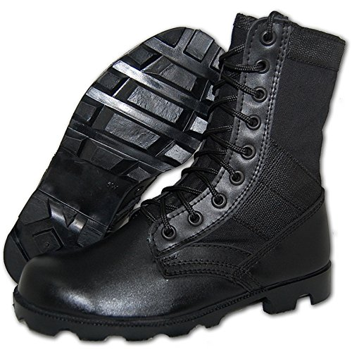 Image of KRAZY SHOE ARTISTS SHOE ARTISTS COMBAT Jungle Boot Men in Black