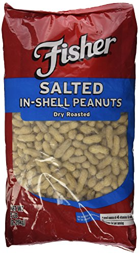 5 Lbs. Fisher Dry Roasted - Peanuts Salted Shell