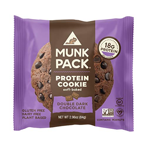 Munk Pack – Soft-Baked Protein Cookie Double Dark Chocolate – 2.96 Ounce