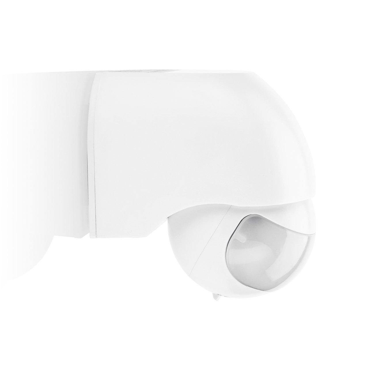 Detector de movimiento, 180° , má x. 12 m, color blanco, ajustable vertical y horizontalmente, IP44 (para interiores y exteriores) [LX40 blanco] JVS-Handel