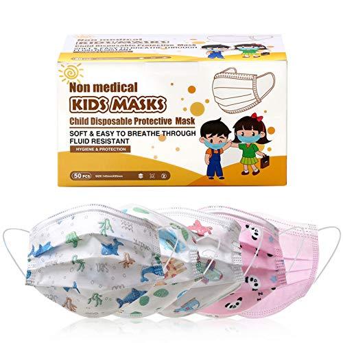 Disposable Face Mask – Kids Disposable Mask 50 Pcs, Face Mask for Kids