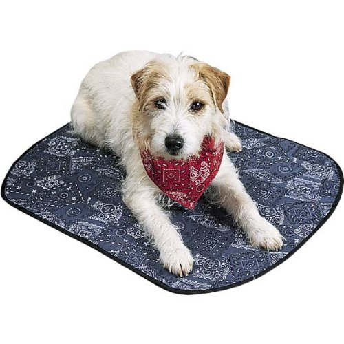 PetEdge Miracool Dog Mat, Small, 18-Inch, Cowboy Blue by PetEdge