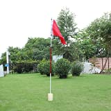 Golf Flag,Golf Putting Green Flagstick, Awakingdemi Backyard Practice Golf Hole Pole Cup Flag Stick Putting Green Flagstick