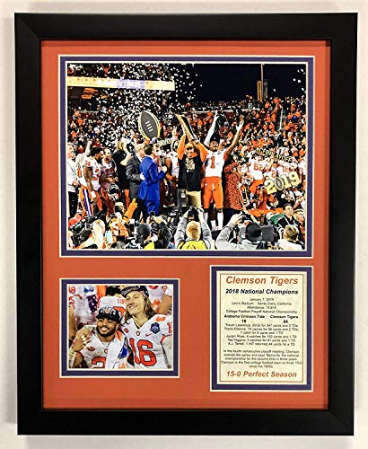 CLEMSON TIGERS 2019 NCAA NATIONAL CHAMPIONS 8X10 PHOTO FRAMED TREVOR LAWRENCE ()