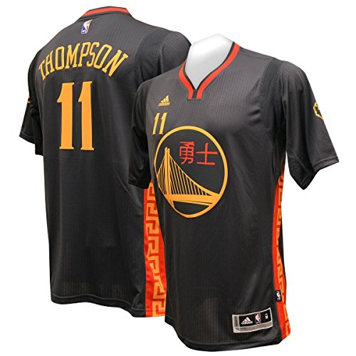 e4c6e51e8837 official store golden state warriors adidas 2015 chinese new year jersey  black klay thompson l 0eca7