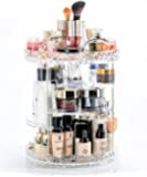 Cq acrylic 360 Degree Rotating Makeup Organizer,Adjustable Multi-Function Cosmetic Storage Box Make Up Display Stand,7 Layers with Large Capacity,Fits Different Types of Cosmetics and Accessories