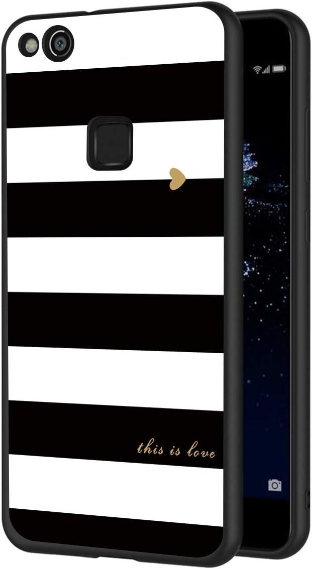 ZhuoFan Funda Huawei P10 Lite Cárcasa Silicona Ultrafina Negra con ...