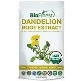 Biofinest Dandelion Root Extract Powder – USDA Certified Organic Gluten-Free Non-GMO Kosher Vegan Friendly – Supplement for Healthy Blood Sugar Level, Immune System, Digestion, Liver Health (250g) For Sale