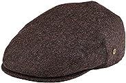 VOBOOM Men's Herringbone Flat Ivy Newsboy Hat Wool Blend Gatsby Cabbie