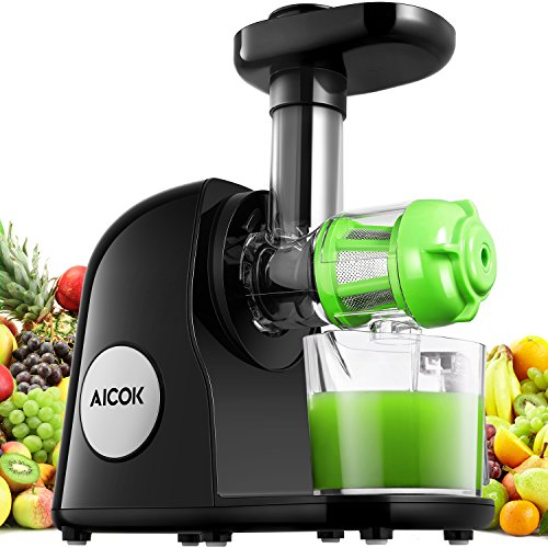 Aicok Juicer Slow Masticating Juicer Cold Press Extractor Black (Large Image)