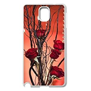 red floral CUSTOM Cover Case for Samsung Galaxy Note 3 N9000 LMc-31364 at LaiMc