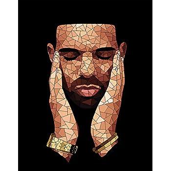 Drake Rapper Stars Art Wall Cloth Poster Print 518