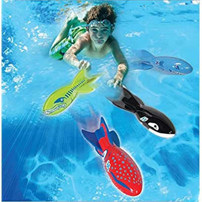 Banzai Swimming Pool Diving Toys Torpedo Beasts Sharks, 4 in a Pack, Ages 3+: Everything Else