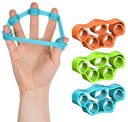 Finger Exerciser Stretcher Set: 3-Pack Finger Grip Strengthe