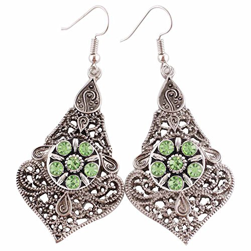 Chunk Charm Filigree Earrings Diameter
