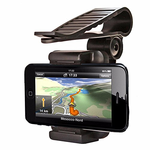 Universal Car Rear View Mirror Mount Stand Holder For Smartphone - 4