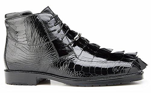 - Belvedere Barone Genuine Hornback and Genuine Ostrich Boot 10.5 Black