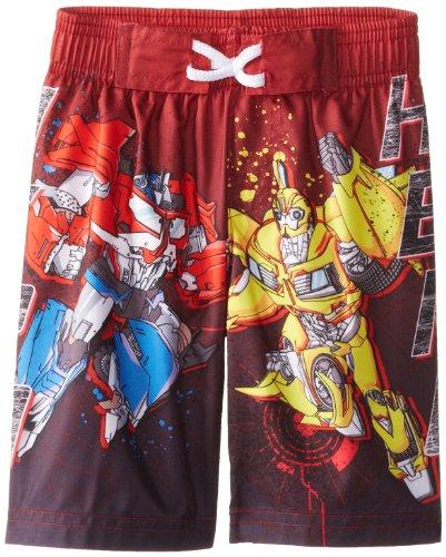 Hasbro Little Boys' Transformers heroes Swim Trunk, Red, 2T