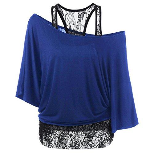Off Col Shirt Femmes Girl Summer Casual Top paule bleu T Batwing Masterein Oblique zTqYxRT