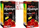 6 - Box of 96pcs Coconut Coco Mazaya Premium Lighting Hookah Hokah charcoal coals- TOTAL 576 Pieces