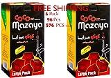 6 – Box of 96pcs Coconut Coco Mazaya Premium Lighting Hookah Hokah charcoal coals- TOTAL 576 Pieces