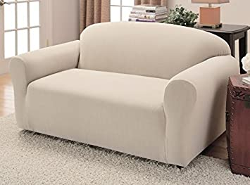 JERSEY STRETCH Form Fit Couch Cover 2 Pc Slipcover SetSofa Loveseat Covers