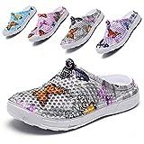 Garden Clogs Shoes Womens Mens Mesh Quick Drying Beach Sandals Butterfly Grey 37