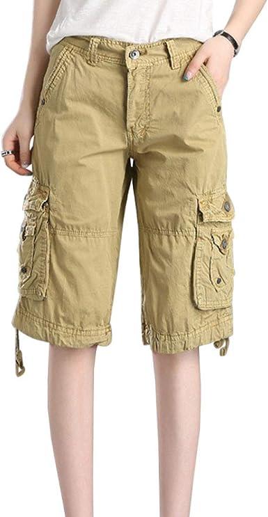 Yiliankeji Mujer Cargo Pantalones Cortos - Directamente Casual ...