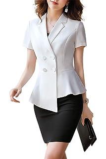 Amazon.com: Conjunto de tres piezas para mujer de oficina y ...