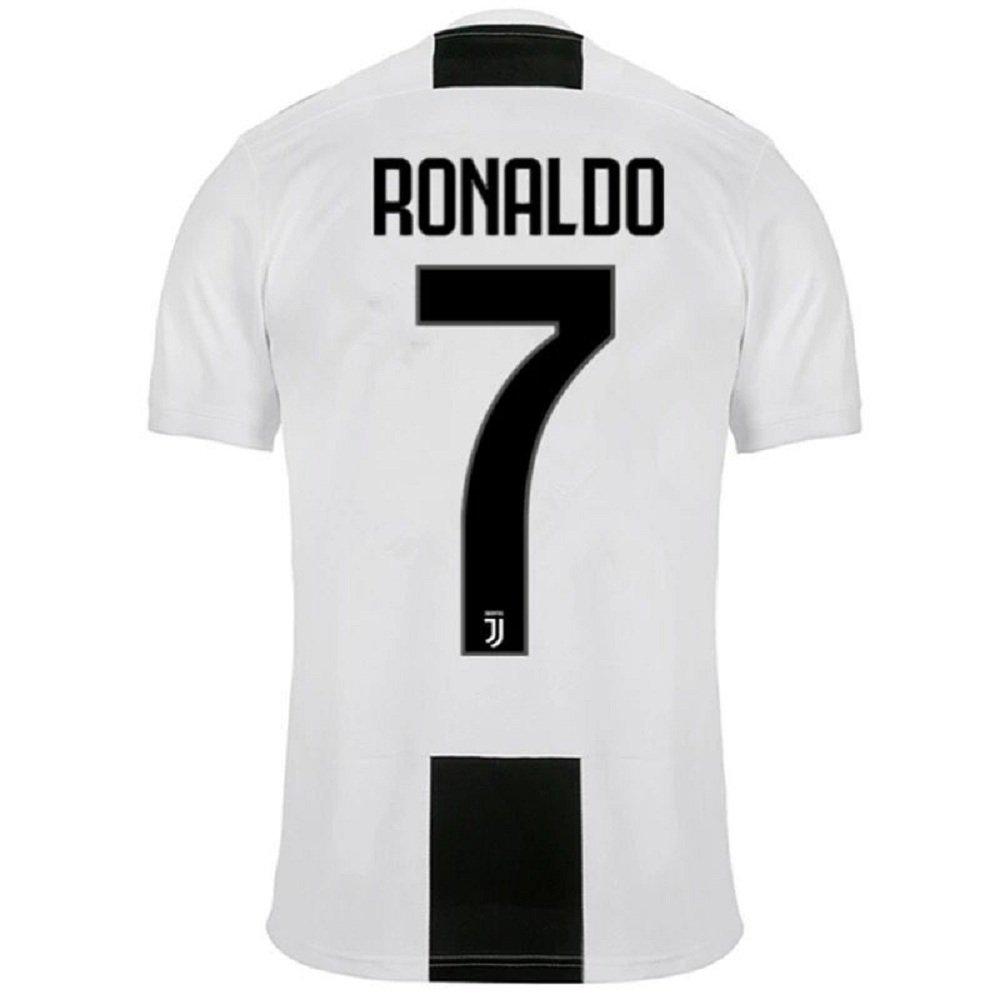 online store bfe6e adfa0 Barlener Men's Ronaldo Jerseys Juventus 7 Football Jersey Soccer Jersey  White