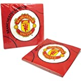 Manchester United Football Club Luncheon Napkins 33cms - Pack of 20