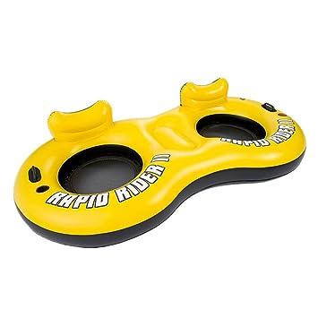 Sucastle Flotador Inflable para Piscina con Forma de Flotador Doble,para Adultos niños Playa Fiestas de Piscina Juegos Decoraciones de salón terraza ...