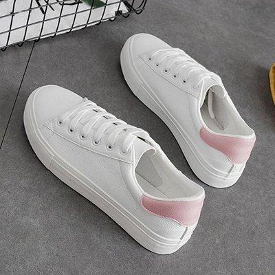 Zapatos Cuero Zapatos Pu NGRDX Mujer amp;G De De Zapatos Blanco De Pink Mujeres Mujer Transpirables White Sxna4qz