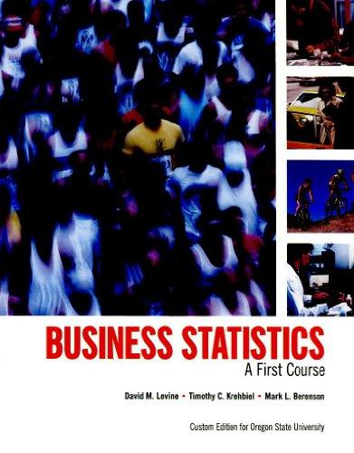 Bus. Statistics (Custom Edition for Oregon State University)