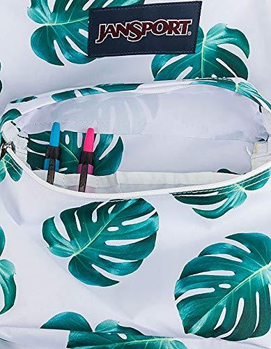 JanSport SuperBreak Backpack, White Monstera Leaves by JanSport (Image #5)