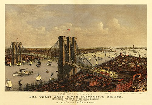 New York City, New York - (1885) - Panoramic Map (16x24 SIGNED Print Master Giclee Print w/Certificate of Authenticity - Wall Decor Travel Poster)